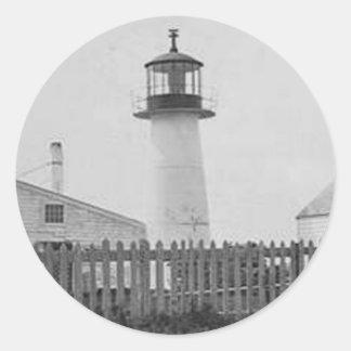 Long Island Head Lighthouse Classic Round Sticker