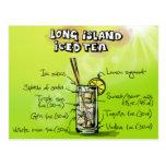 Long Island heló el té - regalo del cóctel Tarjeta Postal