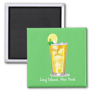 Long Island Iced Tea 2 Inch Square Magnet