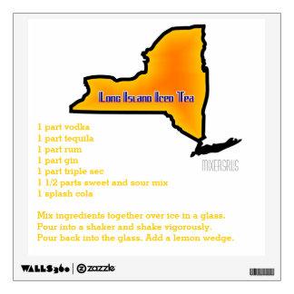 Long Island Iced Tea Drink Recipe Wall Sticker