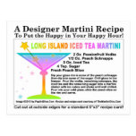 Long Island Iced Tea Martini Recipe Postcard