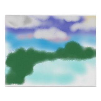 """""""Long Island in Indonesia"""" Faux Canvas Print"""