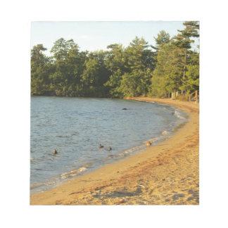 Long Island Lake Beach Memo Pad