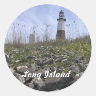 Long Island - Montauk Pegatina Redonda