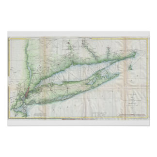 Long Island Nautical Map Poster