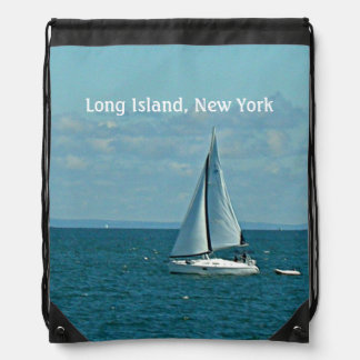 Long Island, New York Drawstring Backpack
