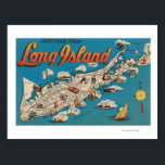 "Long Island, New York - Greetings From Postcard<br><div class=""desc"">Long Island,  New York - Greetings From - Long Island,  NY  was created in 1951. This image depicts scenes from Long Island,  NY.</div>"