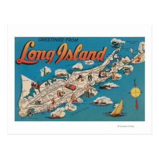 Long Island, New York - Greetings From Postcard
