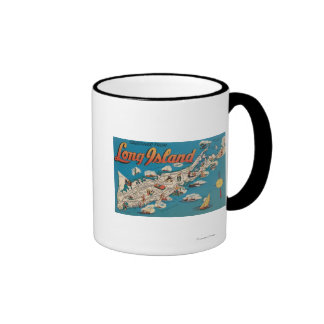 Long Island, New York - Greetings From Ringer Mug
