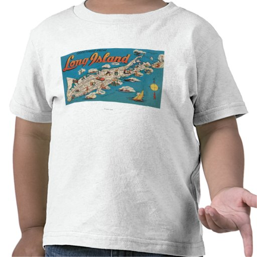 Long Island, New York - Greetings From T-shirt