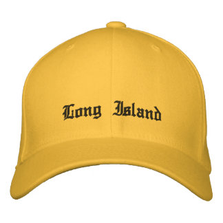 Long Island New York. Hat Embroidered Hats