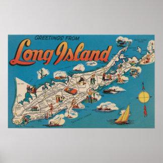 Long Island, Nueva York - saludos de Póster