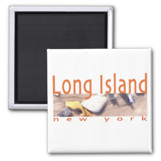 Long Island NY 2 Inch Square Magnet