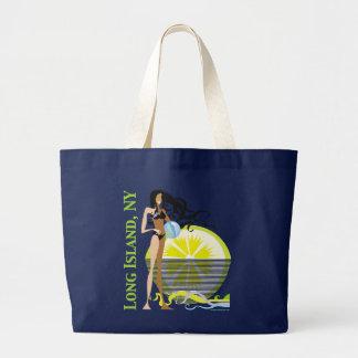 Long Island NY Large Tote Bag