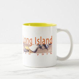 Long Island NY Taza De Café De Dos Colores