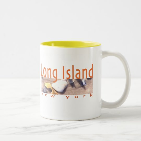 Long Island NY Two-Tone Coffee Mug