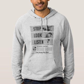 Long Island Railroad Safety Men's Pullover Hoodie