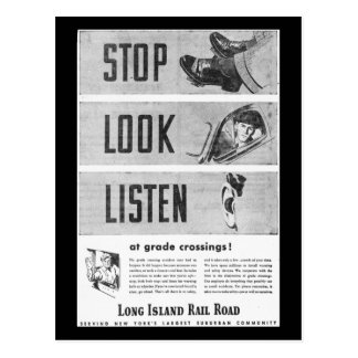 Long Island Railroad Safety Postcard