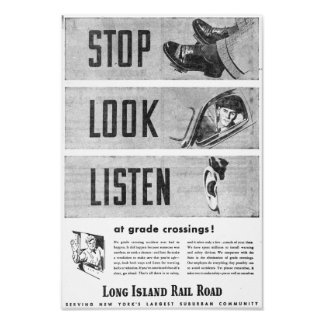 Long Island Railroad Safety Poster