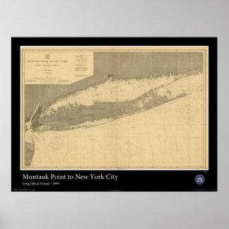 Long Island Sound - 1899 Poster