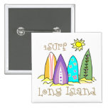 Long Island Surfing Pinback Buttons