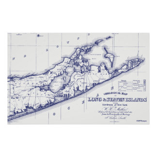 Long Island The Hamptons Map VC Poster