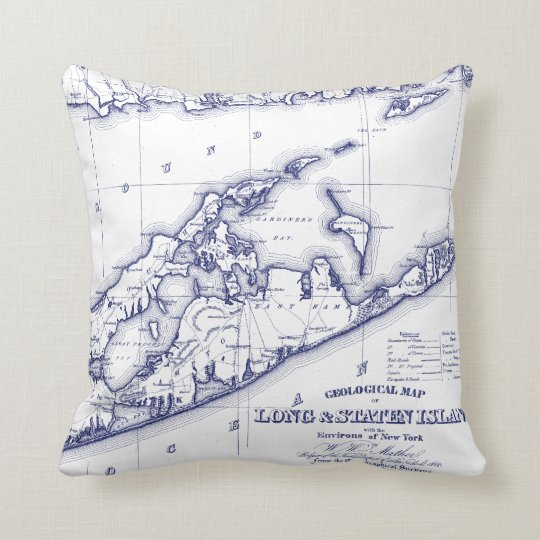 Long Island The Hamptons Map VC Throw Pillow on britannia map, parkland map, hudson valley area map, montauk map, oakridge map, fire island, huntington map, long island, woodlands map, sag harbor, jill flint, new york map, brentwood map, harlem map, water mill, sundance map, new rochelle map, east hampton, southampton map, somerset map, langley afb housing map, richmond map, bayview map, soho map, long island map, fire island map,