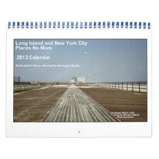 Long Island y NYC coloca no más de calendario 2013