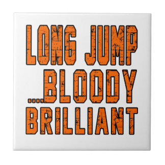 Long Jump Bloody Brilliant Small Square Tile