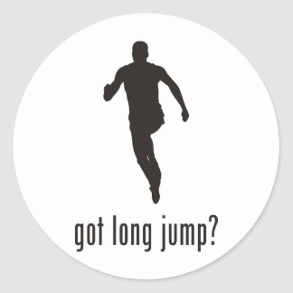 Long Jump Classic Round Sticker