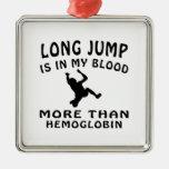 Long Jump Design Ornaments