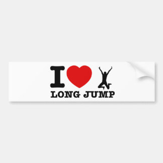 long jump Designs Car Bumper Sticker