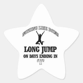 long jump designs star sticker