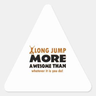 Long jump designs triangle sticker