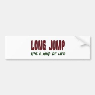 Long Jump It's a way of life Car Bumper Sticker