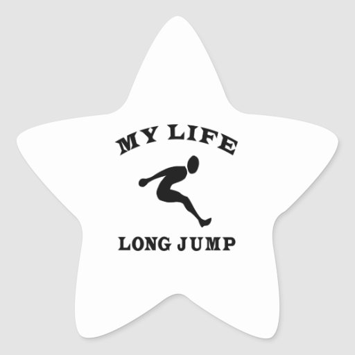 Long Jump My Life Star Stickers