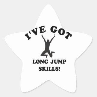 long jump skill gift items star sticker