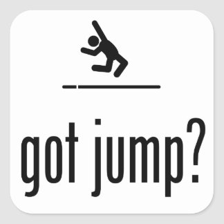 Long Jump Square Sticker