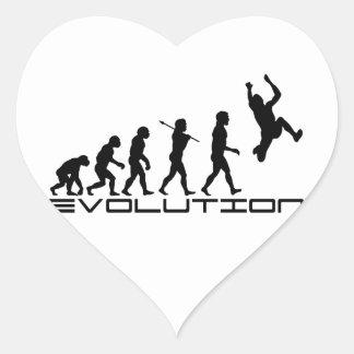 Long Jump Triple Jump Sport Evolution Art Heart Sticker