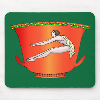 Long jumper on ancient pottery mousepads