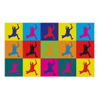 Long Jumping Pop Art Poster