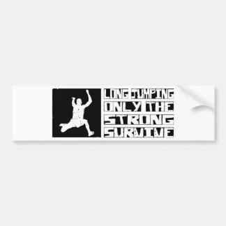 Long Jumping Survive Car Bumper Sticker