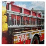 Long Ladder on Fire Truck Ceramic Tile