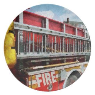 Long Ladder on Fire Truck Dinner Plate