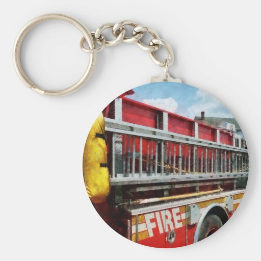 Long Ladder on Fire Truck Key Chains
