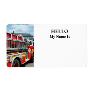 Long Ladder on Fire Truck Label