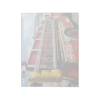Long Ladder on Fire Truck Note Pads