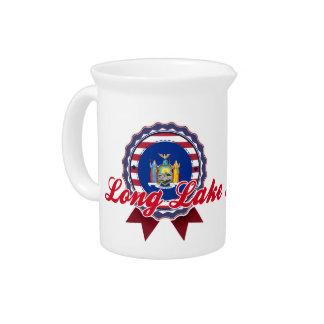 Long Lake, NY Drink Pitcher