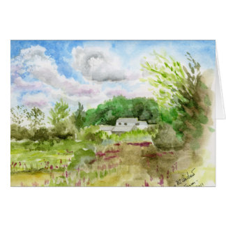 """""""Long Lane Farm in August"""" Greeting Cards"""