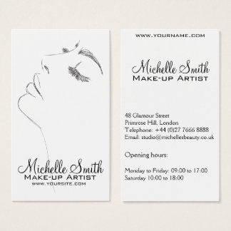 Long lashes eyeliner Lash Extensions Black Sketch Business Card